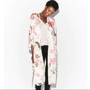 New Express Pink Multi Color Floral Kimono